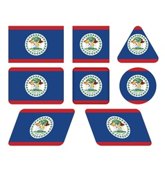 Buttons with flag of belize vector