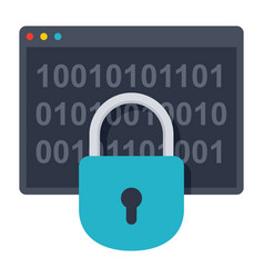 Cryptography science icon vector