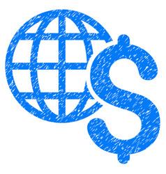 Global economics grunge icon vector