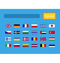 interface of mobile translator application vector image