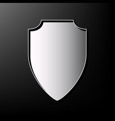 Shield sign gray 3d printed vector