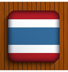 Flag icon on wooden background eps10 vector