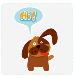 cute cartoon dog and a speaking bubble vector image