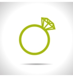 Wedding ring icon eps10 vector