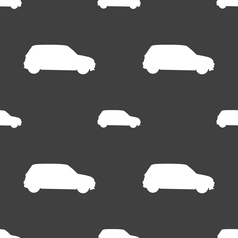 Jeep icon sign seamless pattern on a gray vector