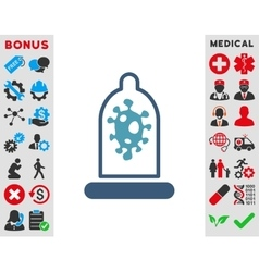 Infection Protection Icon vector image