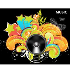 Bright music backgound vector