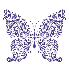 abstract floral butterfly vector image