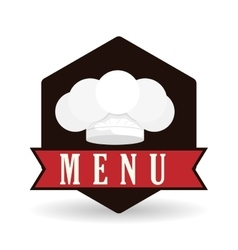 Menu equipment design over white background vector
