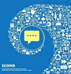 Speech bubbles icon nice set of beautiful icons vector
