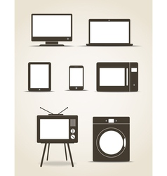 Gadgets and kitchen technics vector