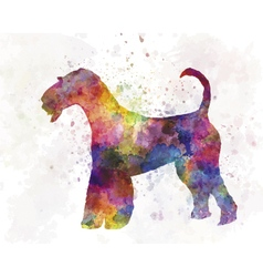 Airedale terrier 01 in watercolor vector