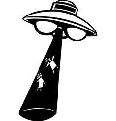 Alien Abduction vector image vector image
