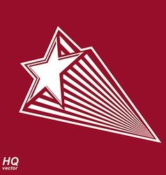 Astronomy conceptual pentagonal comet sta vector