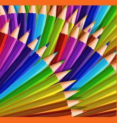 Background design with lots of color pencils vector
