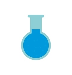 Chemical test tube round icon vector