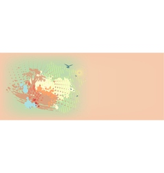 Colorful daub background vector