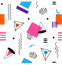 Colorful seamless abstract geomertic pattern - vector