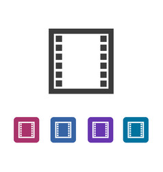 Common film strip icon vector