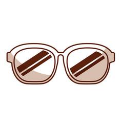 Cute shadow sunglasses cartoon vector