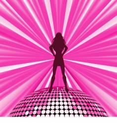 disco queen vector image vector image
