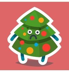Emoticon Icon Happy New Year Fir Tree vector image vector image