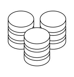 Figure database hosting icon image design vector