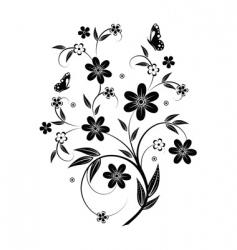 floral element design vector image