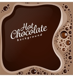Hot chocolate with bubbles background vector