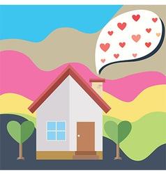 House Heart Smoke vector image vector image