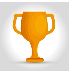 Icon trophy efficiency award design isolated vector