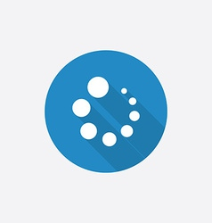 loading Flat Blue Simple Icon with long shadow vector image
