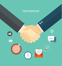Partnership concept flat vector