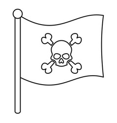 pirate flag icon outline style vector image vector image