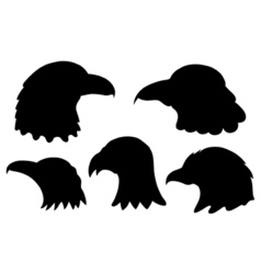 Set of eagles silhouettes vector