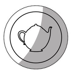 silhouette emblem teapot icon vector image vector image