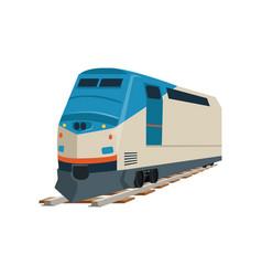 Speed modern train locomotive vector