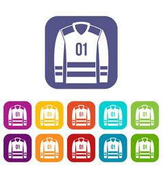 Sport uniform icons set vector