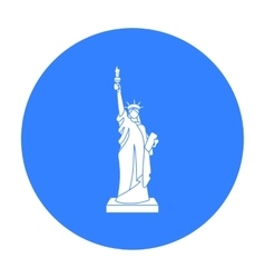 Statue of Liberty icon in black style isolated on vector image