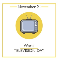Television Day vector image vector image