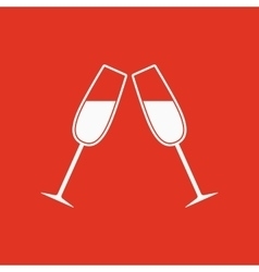 The clink glasses icon Wineglass and goblet vector image vector image