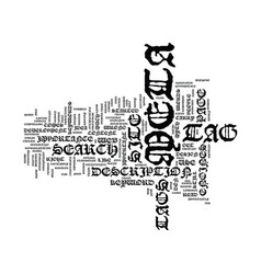 The meta tag myth text background word cloud vector