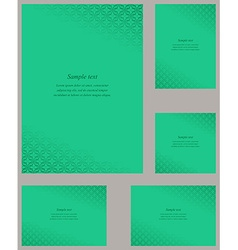 Turquoise page corner design template set vector image vector image