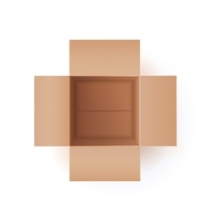 Of cardboard box vector