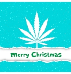 Christmas cannabis congratulation vector image