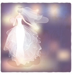 Bride on blurred background vector
