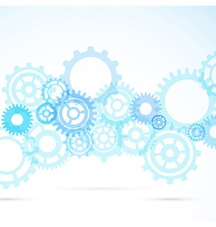 Blue gear abstract modern mechanical background vector image