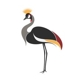 Crowned crane vector