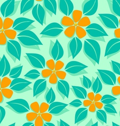 Tropical pattern orange vector