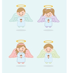 Cute angel vector